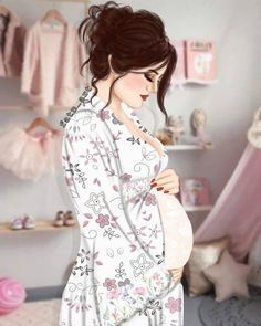 382 imagens sobre drawing✏📃 no We Heart It Mother And Child Drawing, Mother Daughter Art, Mother Art, Sarra Art, Pregnancy Art, Pregnancy Prayer, Girly M, Lovely Girl Image, Cute Couple Art