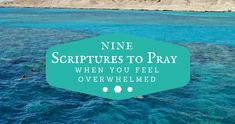 9 Scriptures To Pray When You Feel Overwhelmed: No one invites overwhelm into their life, but sometimes we do take on more than we should.  #SacredRest