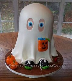 Little Johnny the Friendly Ghost Cake... a homemade Halloween cake idea.
