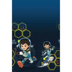 Disney Miles from Tomorrowland birthday party table cover.