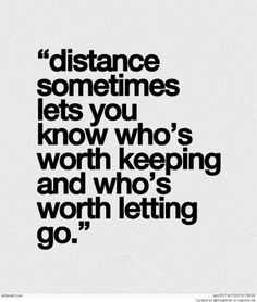 Yes. I usually distance myself, to evaluate a relationship or situation, and then decide whether or not to continue.