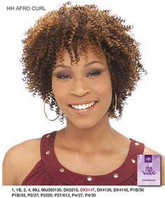 It's a Cap Weave Human Hair Wig Afro Curl It's a Cap Weave! - Human Hair Premium Quality Wig Swirl & Curls Style from [It's a Wig!] Brand It's a Cap Weave Human Hair Wig - Afro Curl Cute Hairstyles For Short Hair, Braids For Black Hair, Twist Hairstyles, Black Women Hairstyles, Curly Hair Styles, Natural Hair Styles, Hairstyles Haircuts, Short Natural Curly Hair, Deep Curly