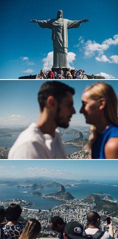 Corcovado e Cristo Redentore a Rio de Janeiro.