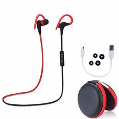 Sports Stereo Sweatproof Bluetooth Earbuds