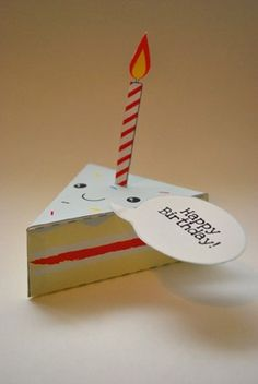 Piece of cake print and fold Birthday card, so stinken cute!