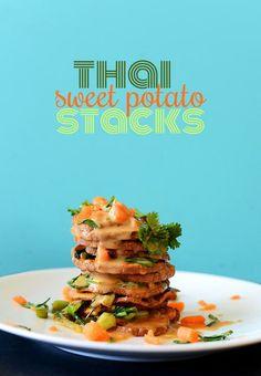 Thai Sweet Potato Stacks