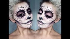 halloween makeup tutorial sugar skull - YouTube
