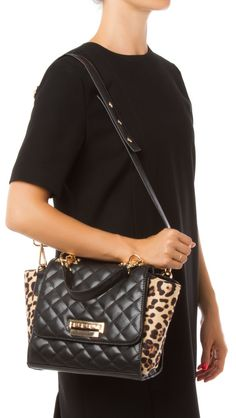 Lalita Leopard Print Quilted Handbag