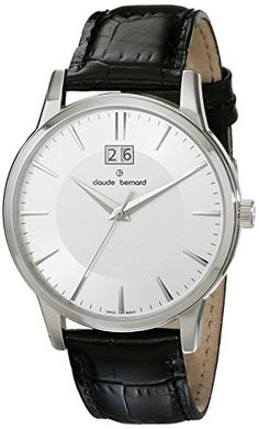 Men's Wrist Watches - Claude Bernard Mens 63003 3 AIN Classic Gents Analog Display Swiss Quartz Black Watch >>> Read more at the image link.