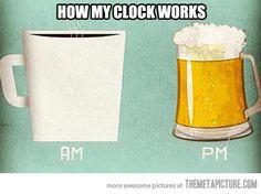 My everyday clock…