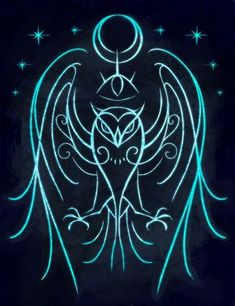 """sigilseer: """"Sigil to Invoke Owl Magic For anyone who has an owl familiar or who wants to enhance owl qualities in themselves, like wisdom, intuition, and the ability to see that which is hidden. """""""