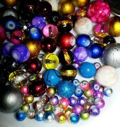 100pcs 4-14mm Buffy\'s Rainbow Glass Bead Mix! . Starting at $6