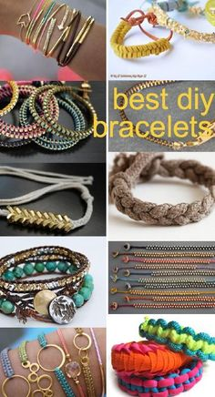 make your own bracelets Cool Craft & DIY Projects
