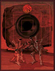 Ilustración para Mars Red Sky. Burdeos, 2015.