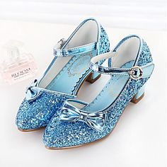Girls' Shoes PU(Polyurethane) Spring / Fall Flower Girl Shoes Heels Bowknot / Sequin for Kids White / Blue / Pink Kids Shoes Online, Discount Shoes Online, Fall Flower Girl, Flower Girl Shoes, Cheap Girls Shoes, High Heels, Shoes Heels, Light Up Shoes, Princess Shoes