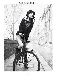 """Kati Nescher in """"Sur Le Quais"""" by Lachlan Bailey Vogue Paris February 2014"""