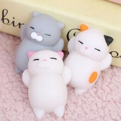 1X Kawaii Slow Soft Rising Squishy Squeeze Cute Cat Expression Smile Face Toy Z