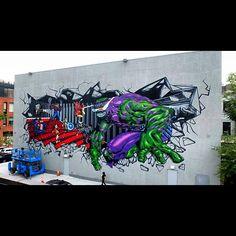 Frederico Massa aka lena Cruz in Brooklyn, New York #Art #street #streetart #graffiti #cra #Padgram