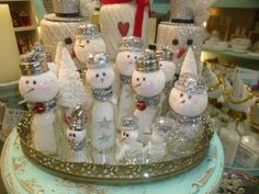 Salt Shaker Snowmen by Sophie's Cottage
