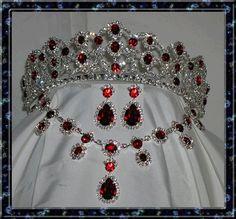 Empress Josephine Royal Ruby Crown Set