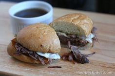 French Dip Sandwiches by Our Best Bites. Easy crockpot recipe!
