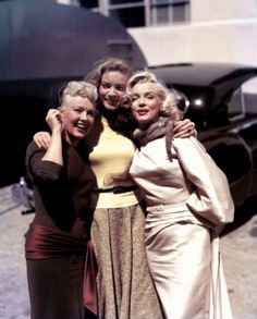 Betty, Lauren Bacall and Marilyn Monroe. A George Vreeland Hill Pinterest post.