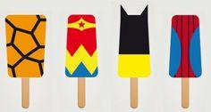 Superhero Frozen Popsicles