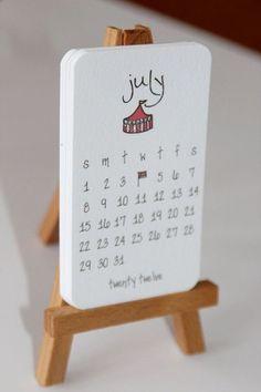 Calendar 2012 Mini Doodle Desk Calendar With Wooden Easel – Julieta birchner – Diy Diy Calendar, Desk Calendars, Blank Calendar, Calendar Templates, Printable Calendars, Calendar 2020, Free Printable, Wooden Calendar, Advent Calendars