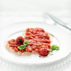 Łosoś z pieca z pomidorową salsą Nom Nom, Ethnic Recipes, Greedy People