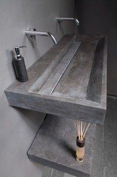 Neutra Waschbecken marmor braun waschtisch massiv bad