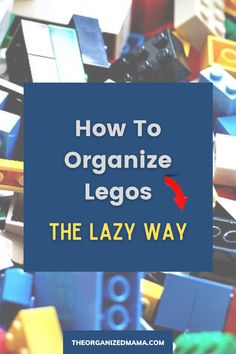 Learn how to organize legos in an easy way that is fast and can be maintained by your family. We share step-by-step instructions on how to declutter and organize legos. Find our number one secret to making lego organization EASY and FAST! Check out the blog to learn our simple organizing hack. Kids Bedroom Organization, Organisation Hacks, Small Space Organization, Playroom Organization, Organizing, Small Playroom, Inspiration For Kids, Decluttering, Getting Organized