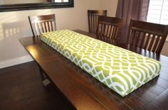 Very easy upholstered bench top #diy upholstery