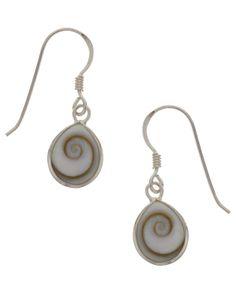 Sterling Silver Eye of Sheva Short Drop Earrings