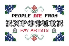 In the wake of several instances of artists being expected to work for free or being paid with 'exposure' of their talents, I decided to make this pattern as my contribution to the movement to see that all artists are fairly paid for their work. I Decided, Artists, Feelings, Pattern, How To Make, Free, Model, Patterns, Artist