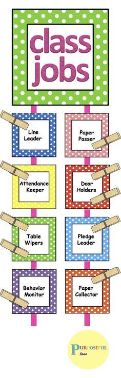 #Classrooms #Editable #Job #ClassroomOrganization #Elementary #Tpt