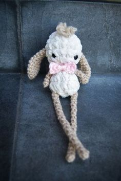 Free crochet amigurumi pattern for this adorable bunny rabbit named Brendan!
