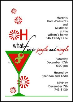 204 Best Christmas Invitations For Your Holiday Parties Images