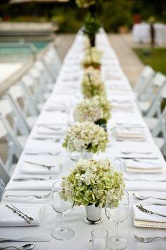 Hydrangeas wedding table decor