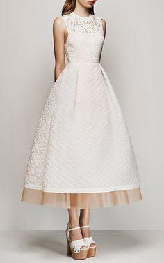 Imogen Floral Organza Midi Dress by Alex Perry for Preorder on Moda Operandi