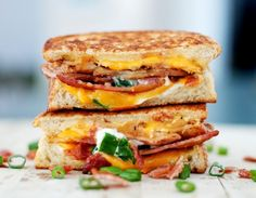 Baked Potato Grilled Cheese.. drooool