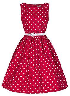 Vintage 1950er Jahre Schwarz und Rot Rosen Retro Rockabilly Partykleid UK 8-20