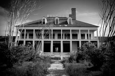 """Abandoned plantation in Bay St. Louis. The old """"Coca-Cola Plantation"""" sits as Hurricane Katrina left it."""