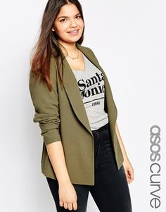 Buy ASOS CURVE Premium Utility Blazer With D Ring Belt at ASOS. With free delivery and return options (Ts&Cs apply), online shopping has never been so easy. Get the latest trends with ASOS now. Plus Size Fashion For Women, Plus Size Womens Clothing, Clothes For Women, Plus Fashion, Size Clothing, Asos Curve, Plus Size Dresses, Plus Size Outfits, Plus Size Blazer