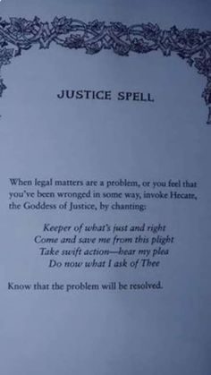 Hecate Incantation to exact justice chant Magic Spell Book, Witch Spell Book, Witchcraft Spell Books, Magick Spells, Wiccan Magic, Wiccan Witch, White Magic Spells, Karma Spell, Witchcraft Spells For Beginners