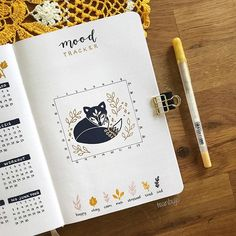 Tea sur Instagram: Do you use mood trackers in your bullet journal? Here is my mood tracker for September 🦊 I will draw one or two leaves describing my mood…