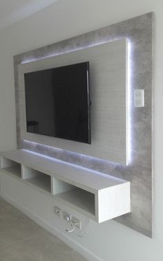 64 BEST TV WALL DESIGNS AND IDEAS - Page 46 of 64 The TV background wall mainly refers to the main wall in the living room and bedroom that reflects the decoration style. The position of the… Tv Wand Design, Tv Wanddekor, Tv Wall Cabinets, Wall Mount Tv Cabinet, Tv Wall Mount, Large Tv Cabinet, Built In Tv Cabinet, Wall Mounted Tv, Storage Cabinets