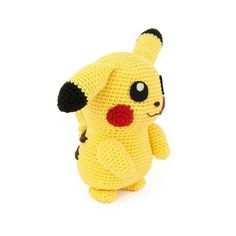 I had to crochet the most famous Pokemon of them all: Pikachu! Also think it's one of the cutest Pokemon. I made a regular and shiny version… Crochet Pikachu, Pokemon Crochet Pattern, Crochet Patterns, Make Your Own Pokemon, Crochet Birds, Pokemon Party, Universal Yarn, Character Modeling, Yarn Projects