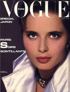 Isabella Rossellini pour le numéro de novembre 1983 de Vogue Paris