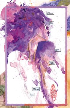David Mack - Page from first painted KABUKI story that's going into this KABUKI Library vol. 1.