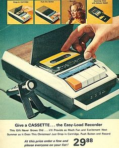 70s Cassette player. My # 1 sister got one of these for Christmas and the same year I got a record player!